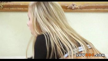throat tiny blond Cukold husband humiliation