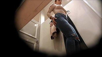 hidden bathroom cam voyeur undress Japanese husband filmed his wife