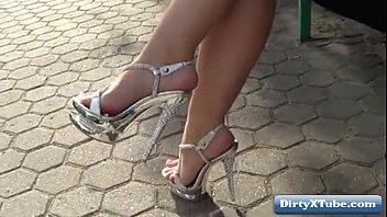 d heels tied high Mom and daughter double fucked by two sons